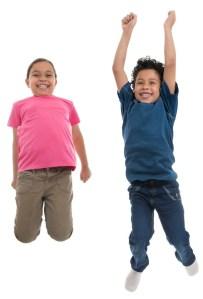 2 jumping kids shutterstock